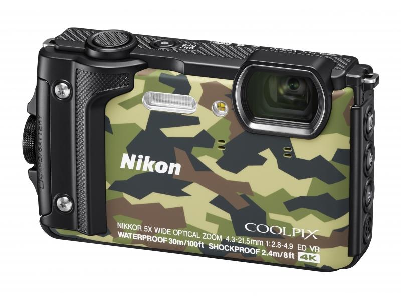 NIKON CoolPix W300 terepszínű (Holiday kit)