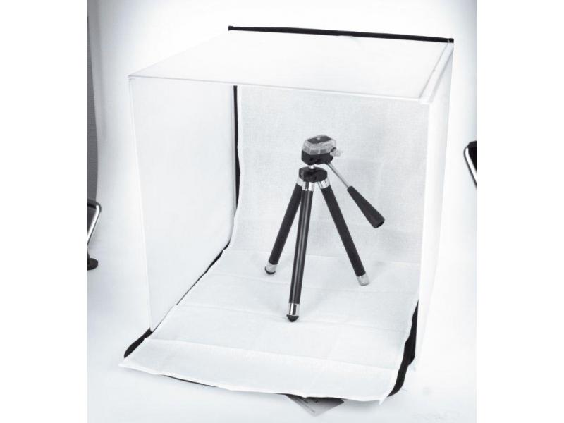 ea8148d3cd53 DÖRR fénysátor 90x90 cm fehér, 4 háttérrel
