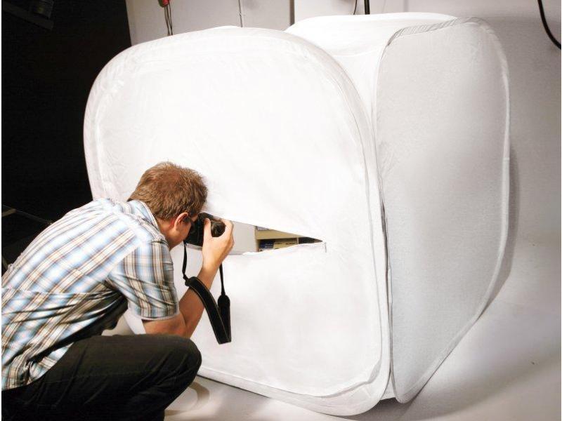 b7313c4acc91 DÖRR fénysátor 120x120 cm fehér, 4 háttérrel