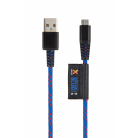 Solid Blue Micro USB kábel (1m)