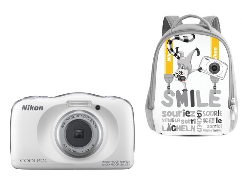 NIKON CoolPix W150 fehér (SMILE hátizsákkal) (1 év)