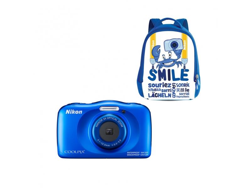 NIKON CoolPix W150 kék (SMILE hátizsákkal) (1 év)
